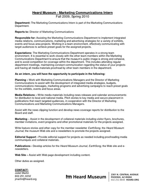 communications intern cover letter sle cover letter for communications intern cover