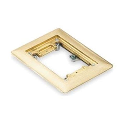 floor box cover plate single brass electrical