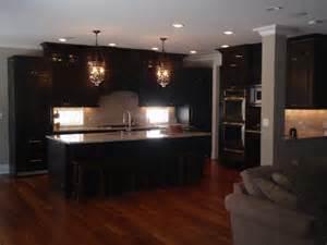 kitchen with espresso cabinets home ideas pinterest