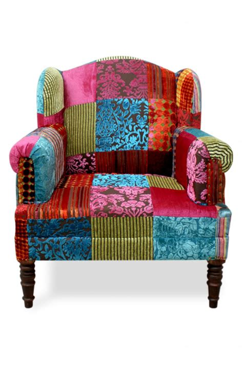 Patchwork Armchairs For Sale - patchwork armchair