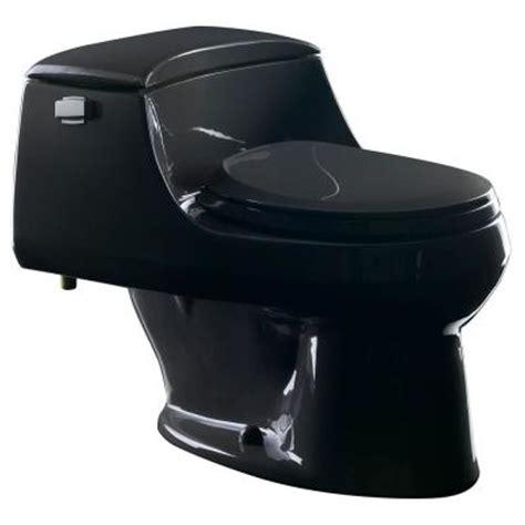 black toilet kohler san raphael 1 piece 1 6 gpf round front toilet in