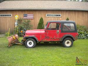 Plow Jeep 1986 Jeep Cj7 Meyer Snow Plow Low