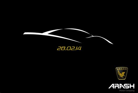 teaser car arash cars to unveil new supercar in february