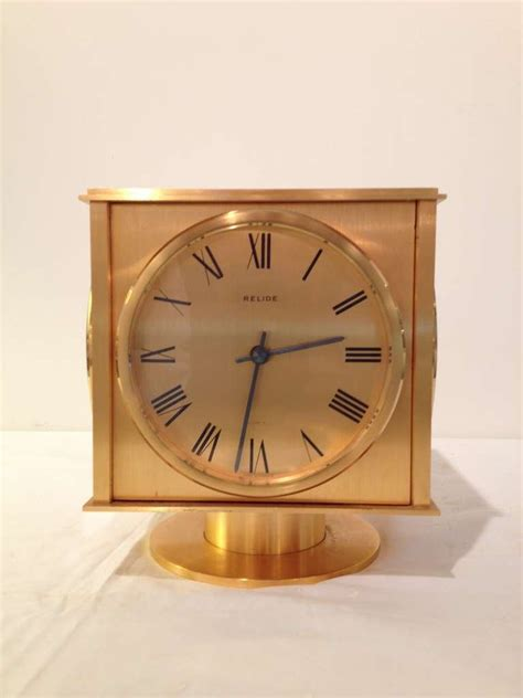 relide french four time zone sided clock rare for sale at 1stdibs