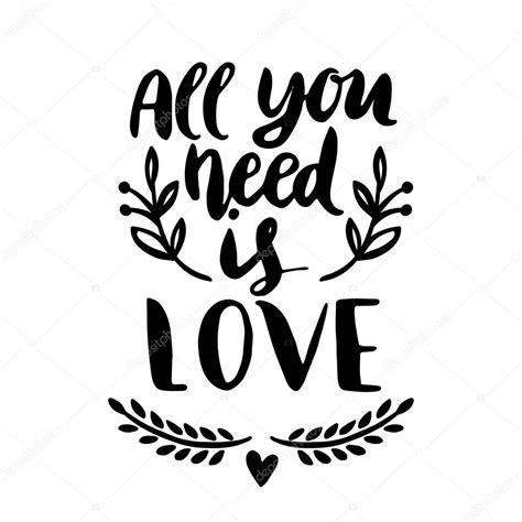all you need is and a all you need is stock vector 169 maria galybina 109390814
