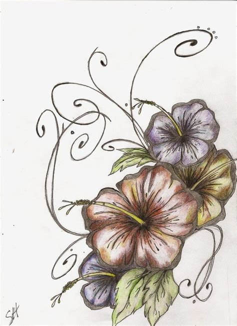 hibiscus tattoo design ii think i d like something like this on my thigh