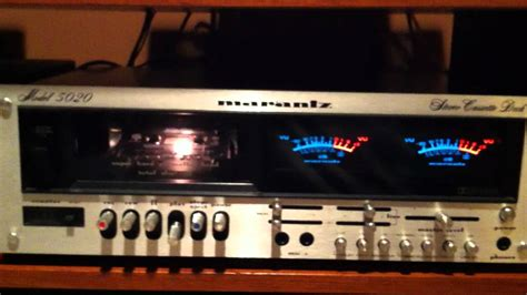 marantz cassette marantz 5020 cassette deck review and demo
