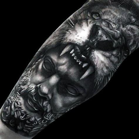 realistic lion leg tattoo design 50 realistic designs for felidae ink