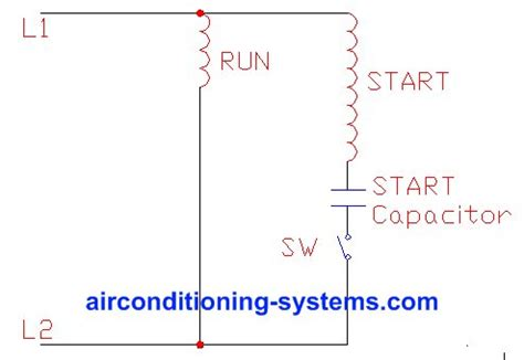 run capacitor wired in series air conditioner motors