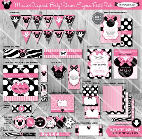 Baby Shower Packages by Minnie Mouse Baby Shower Decoration Packages Baby Shower