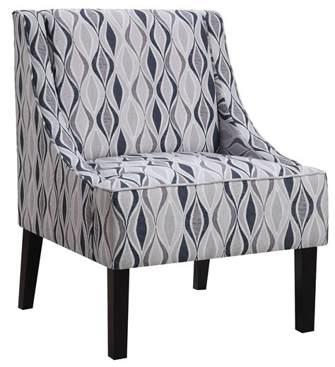 light blue pattern accent chair  coaster  coleman furniture