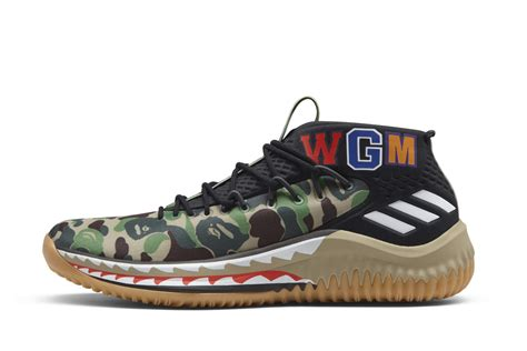 adidas to release 3 limited edition bape x damian lillard sneakers during nba all weekend