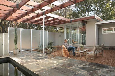 Arbor Patio by Modern Pergola Patio Midcentury With Container Plants Arbor
