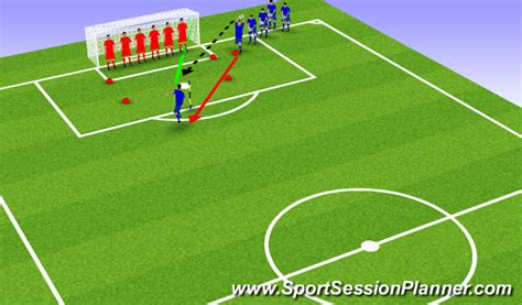 setting drills for one person football soccer fun heading game at the end of training