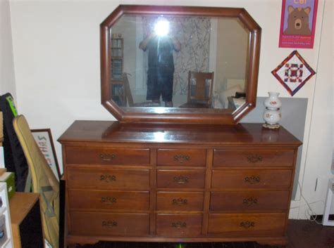 vintage cherry dresser with mirror continental furniture north carolina vintage dresser