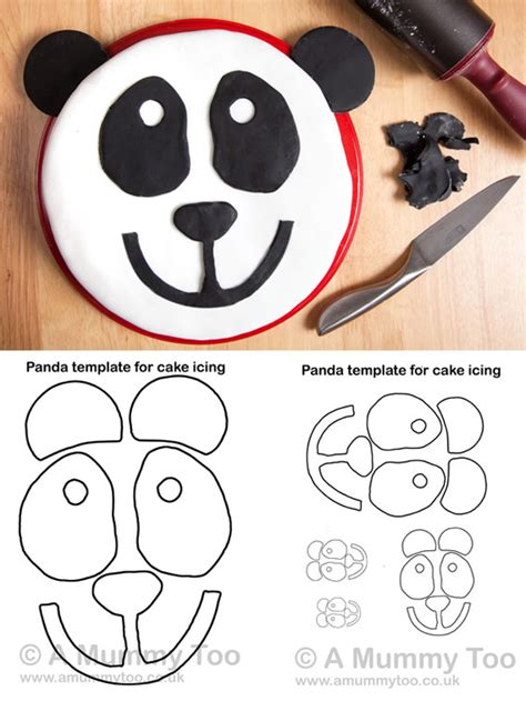 Panda Cake Template how to make a panda cake with printable template a