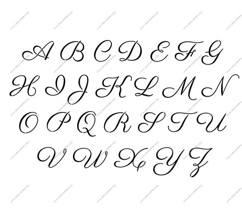 free printable outline fonts free printable alphabet stencil letters template art