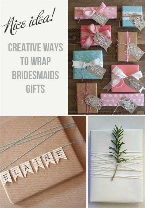 creative ways to wrap small gifts creative ways to wrap bridesmaids gifts