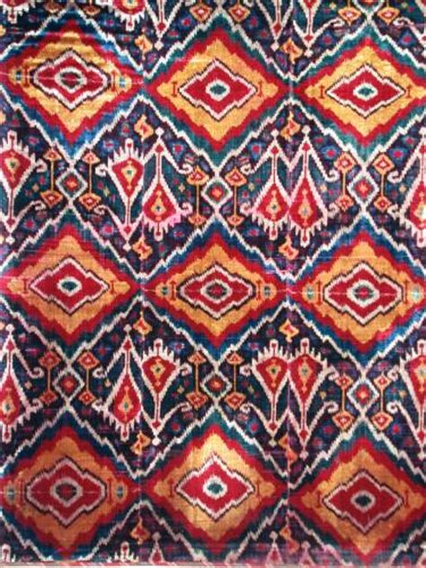 uzbek ikat 19th antique uzbek ikat pinterest antique silk velvet ikat panel uzbek ethnic textiles