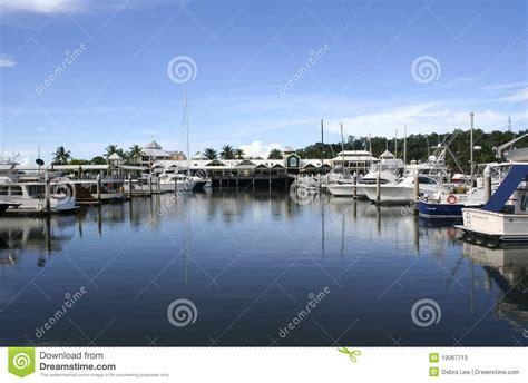 boat marinas queensland port douglas marina queensland australia stock image