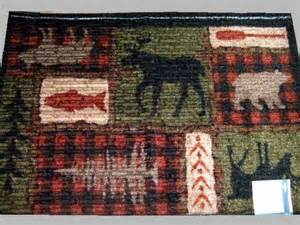 Lodge Style Curtains Large Moose Bear Area Rug Cabin Lodge Decor
