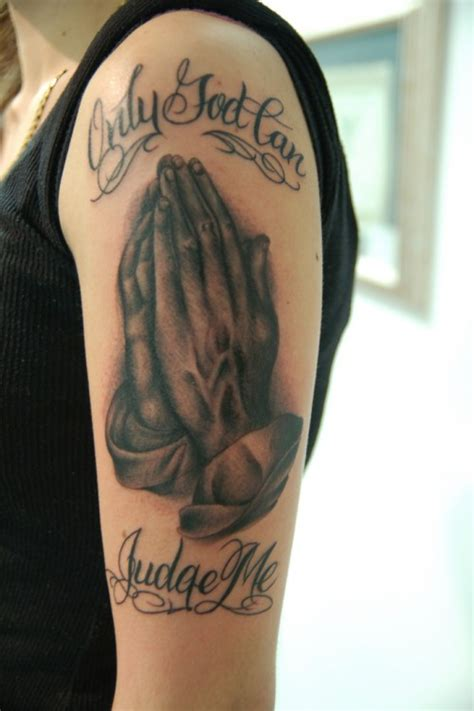 27 greatest praying hands tattoos pictures creativevore