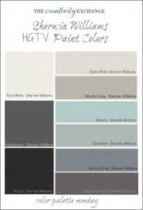 paint color palette hgtv paint colors from sherwin williams