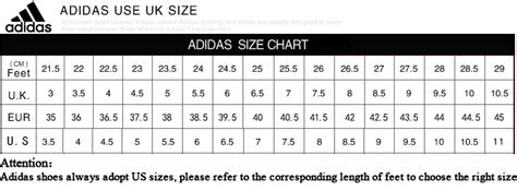 nike adidas basketball shoes size chart