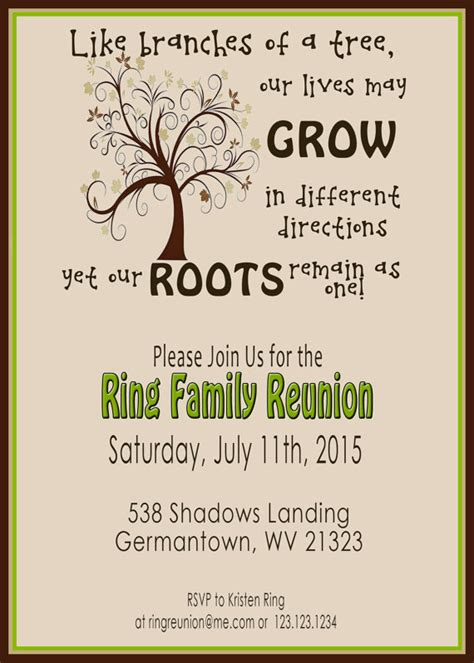 family reunion invite swirly tree printable by 2littledunn