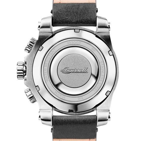 Silber Uhr Polieren by Ingersoll I03002 Herrenuhr The Manning Chronograph