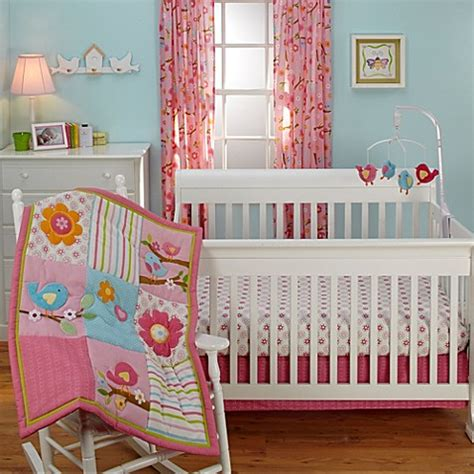 Bird Crib Bedding Nojo 174 Lil Bedding Crib Bedding Collection In Sweet Lil Birds Buybuy Baby