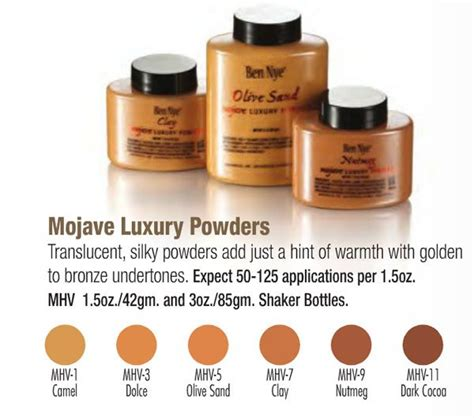 Ben Nye Mojave Collection Luxury Powder Olive Sand mojave luxury powders ie banana powder for olive and brown
