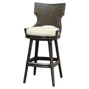 Rattan Swivel Bar Stools Yara Global Espresso Rattan Twill Swivel Counter Stool