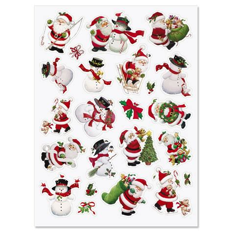 printable santa stickers santa snowman stickers current catalog