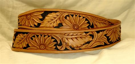 Handcrafted Western Belts - handmade western leather belt patterns lone tree leather