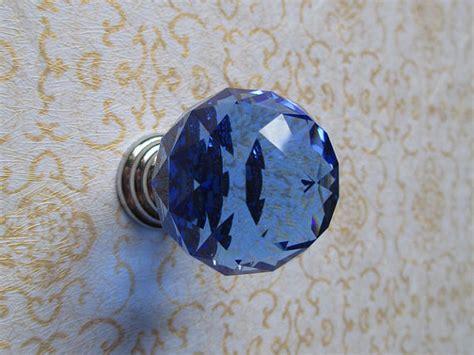 blue crystal knobs 1 2 quot blue glass knobs crystal dresser knob knobs