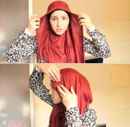 foto hijab pashmina foto tutorial hijab menutup dada dengan pashmina panjang