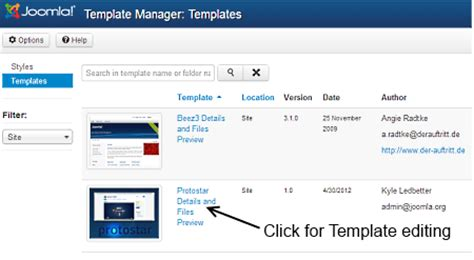 joomla template styles j3 x modifying a joomla template joomla documentation