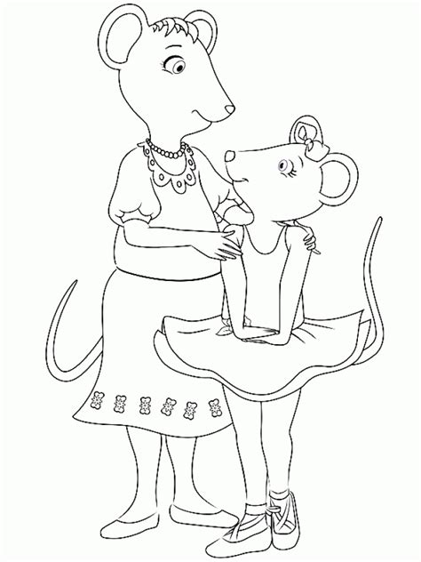 angelina ballerina coloring pages free get this online angelina ballerina coloring pages 289277