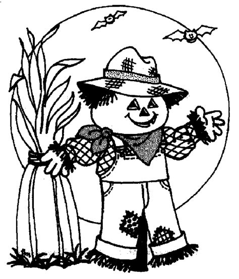 halloween coloring pages scarecrow halloween black and white pictures cliparts co