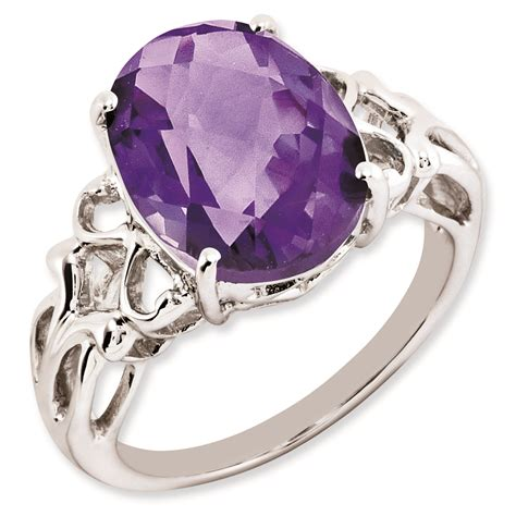 sterling silver amethyst ring qr2959am sterling silver