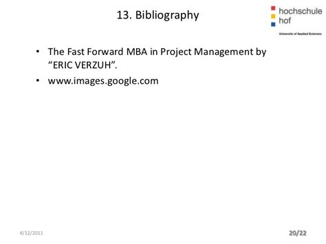 Fast Forward Mba In Project Management by Project Management