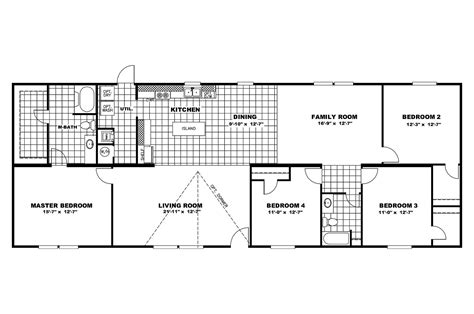 100 mobile homes wide floor plan house