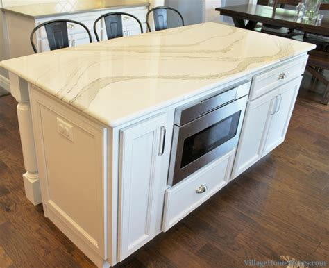 kitchen island with microwave drawer coal valley il kitchen with family friendly farmhouse style