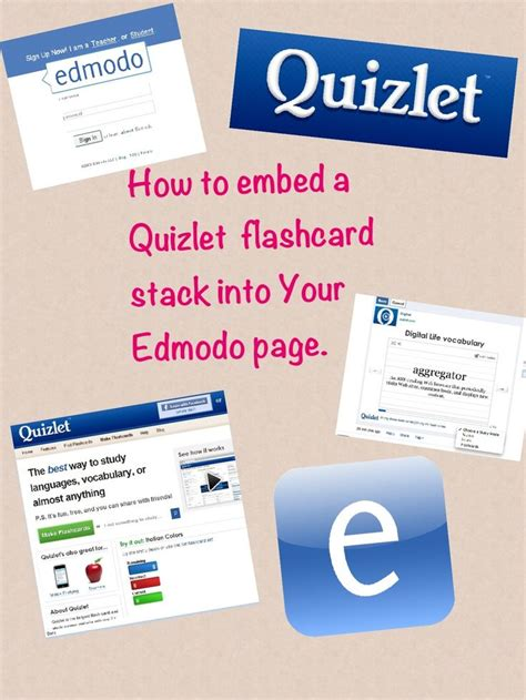 edmodo lesson plans how to embed a quizlet flashcard stack into edmodo