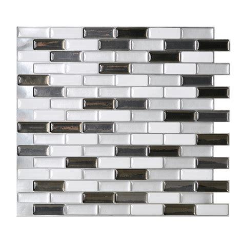 Clean Paint Off Carpet by Shop Smart Tiles 6 Pack White Linear Mosaic Composite