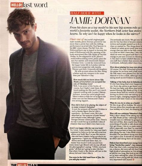 hello magazine template dornan new of with hello magazine