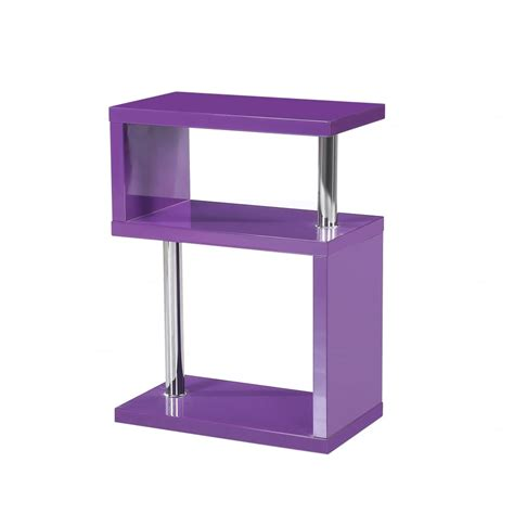 High Gloss Side Table Mfs Furniture Miami Purple High Gloss Side Table Mfs Furniture From Emporium Home Interiors Uk