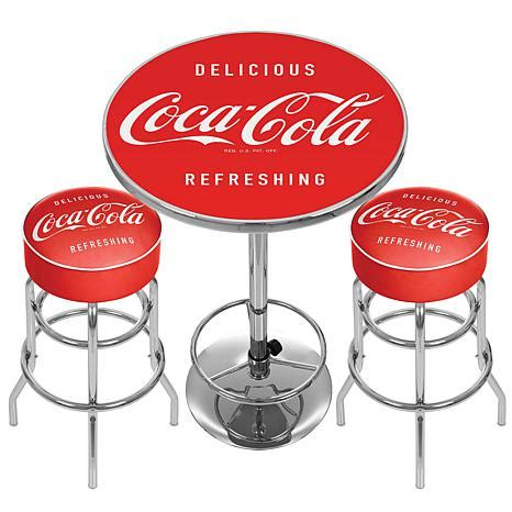 Coca Cola Table And Stools by Ultimate Gameroom Combo 2 Bar Stools And A Table