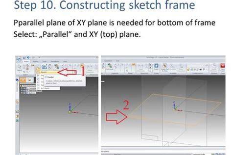 frame design solid edge solid edge frame tutorial grabcad